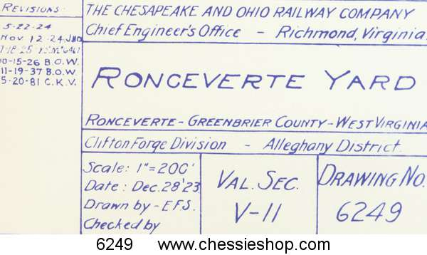 Ronceverte, WV 12/13/1938 rev 5/20/1981 (12x40)