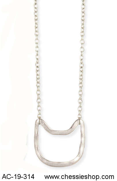 Necklace, Cat Face Silhouette (Silver)