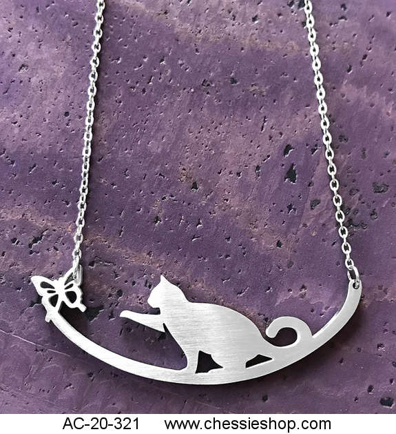Necklace, Close2urHeart, Cat with Butterfly