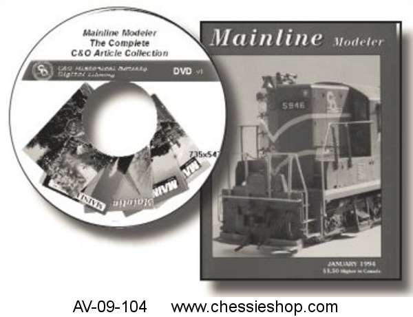 Data DVD: Mainline Modeler C&O Articles: The Complete Collection
