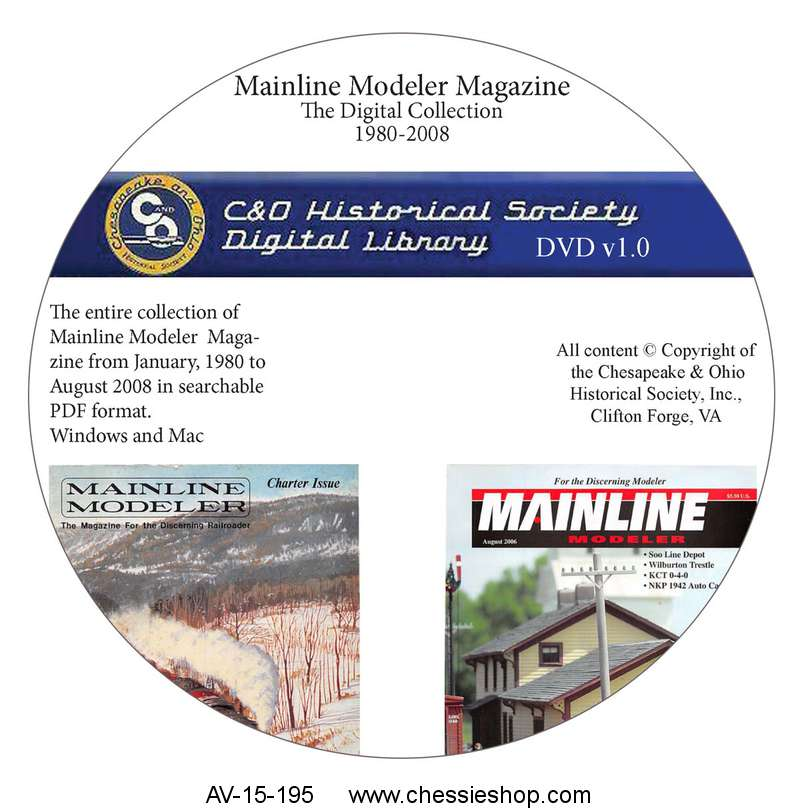 Data DVD: Mainline Modeler Complete Collection
