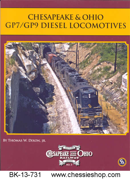 Book, C&O Rwy Series #3, C&O GP9 Diesel Locomotives