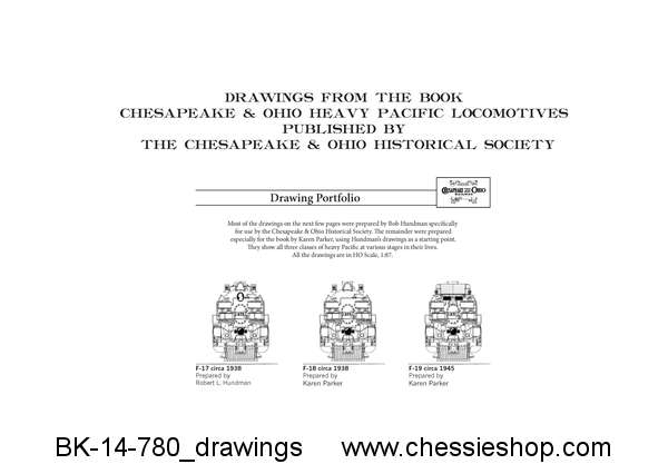 Drawings - C&O Heavy Pacific Locomotives