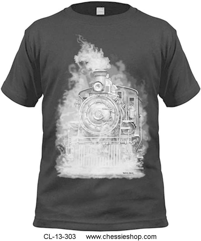 Shirt, Tee, Ghostly Steam Engine