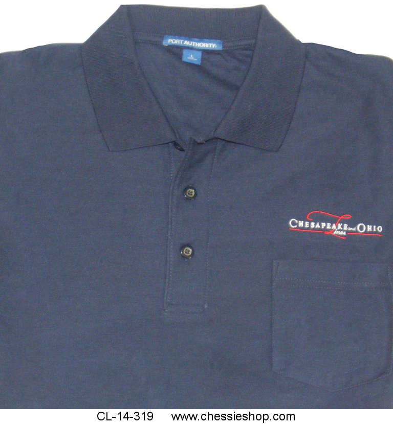 Polo, Chesapeake & Ohio Lines, With Pocket, Navy