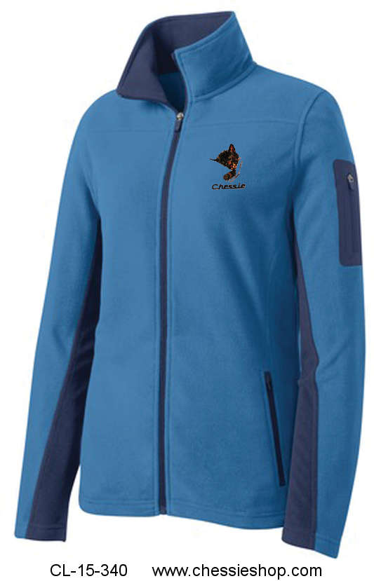 Jacket, Chessie Embroidered Fleece, Royal Blue