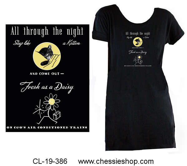 Sleep Shirt, Chessie - All Through the Night