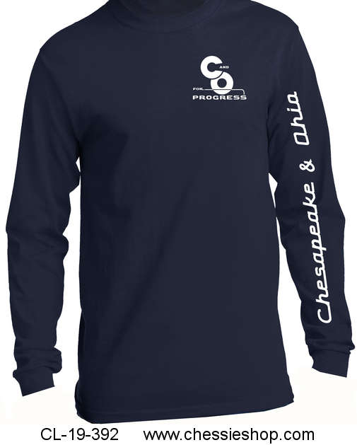 T-Shirt, Long Sleeve, C&O For Progress/Chesapeake & Ohio