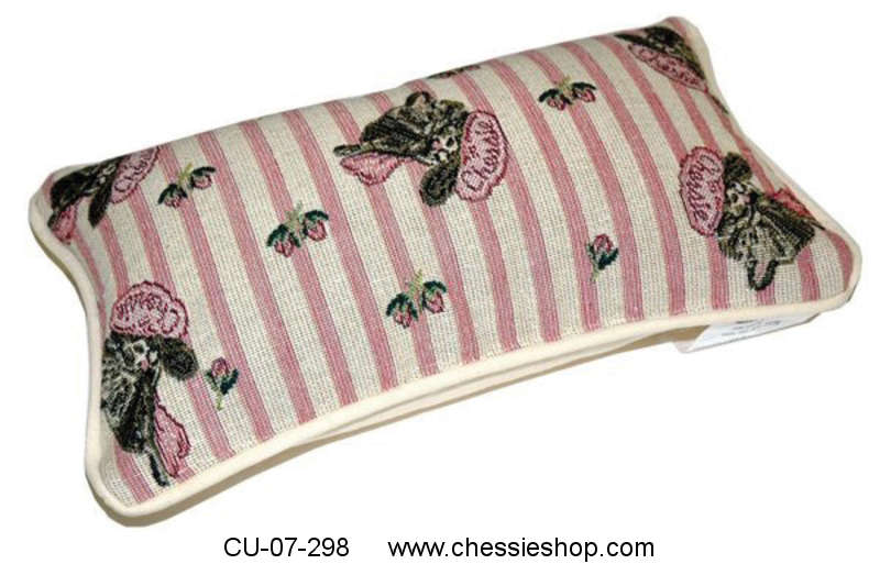 Pillow, Small, Chessie & Flowers