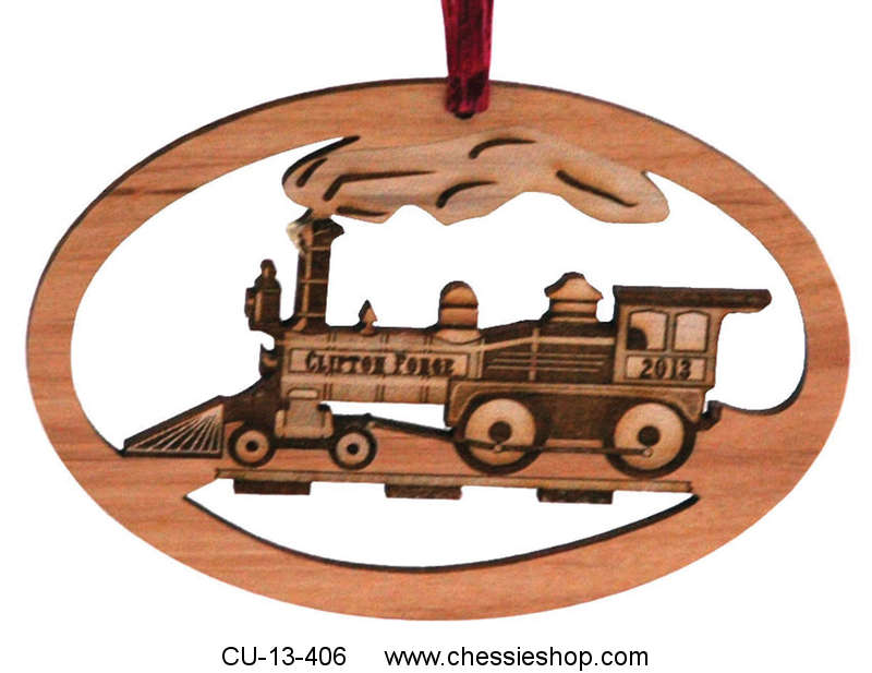 Ornament, Clifton Forge Locomotive, Laser engraved