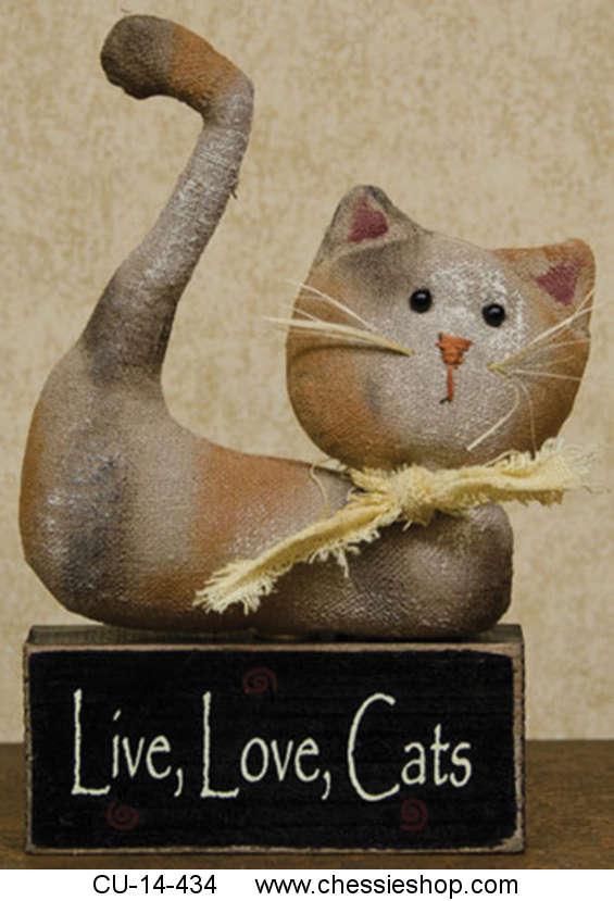 CU-14-434 The Live, Love, Cats Block features a stuffed fa...(more)