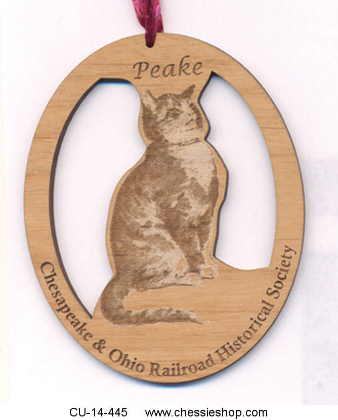Ornament, Peake, Wood, Laser engraved