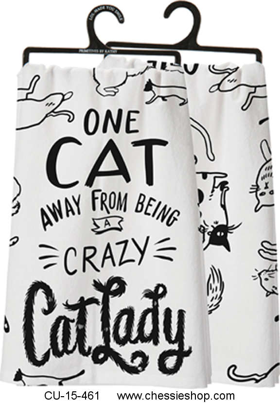 CU-15-461 One Cat Away From Being A Crazy Cat Lady Tea Tow...(more)