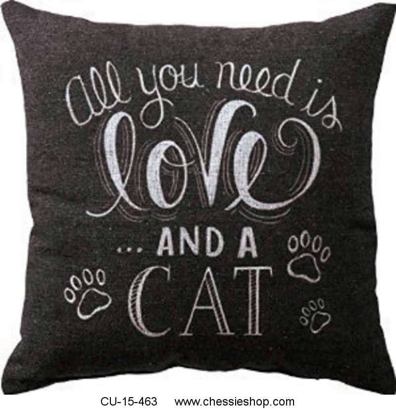 CU-15-463 All you need is love . . . and a cat - Chalk Pil...(more)