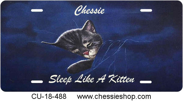 License Plate, Chessie - Staright, Sleep Like a Kitten