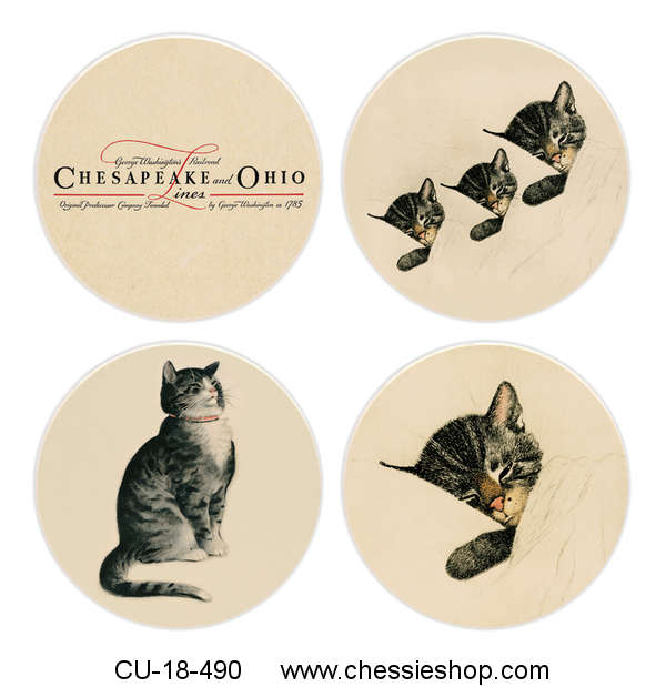 Coasters, Chessie and Her Family (Set of 4)