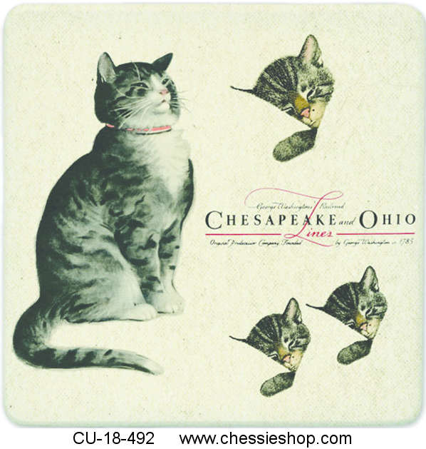 "Trivet, Chessie & Family, 7"" Square"