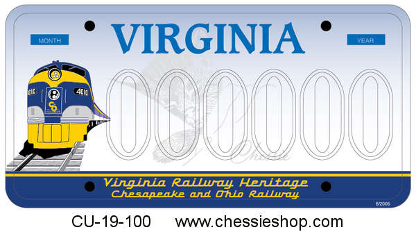 C&O License Plate through VA - DMV