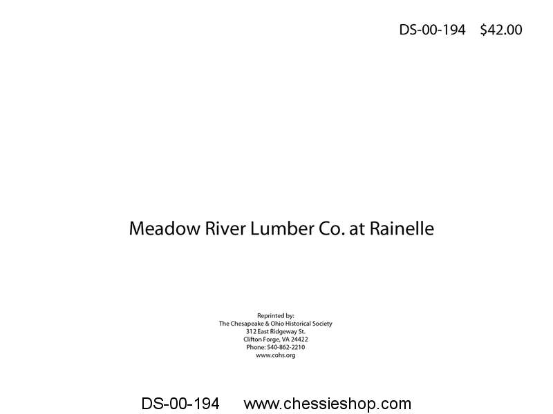 Meadow River Lumber Co. at Rainelle