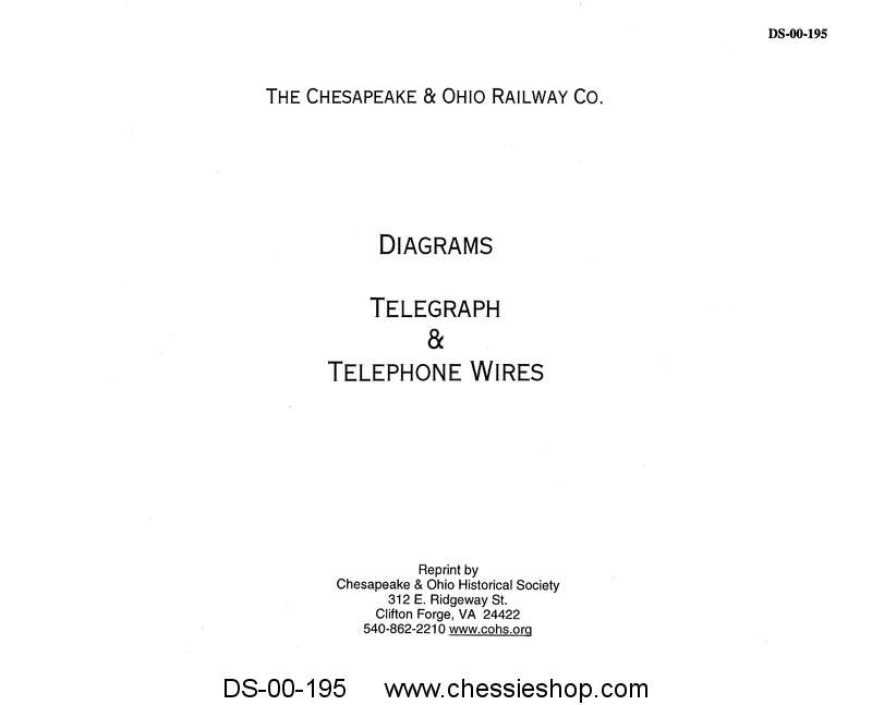 C&O Diagrams of Telegraph & Telephone Wires