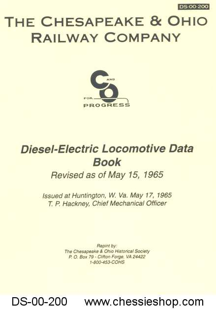 C&O Diesel Locomotive Data Book