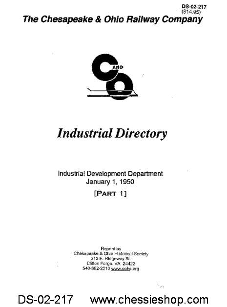 C&O Industrial Directory Jan. 1950