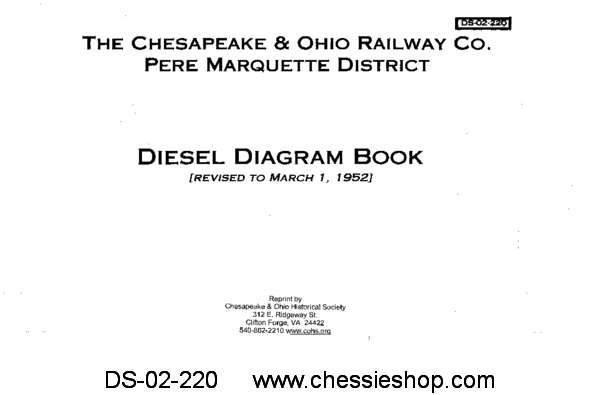 C&O/PM District Diesel Diagram Book 1952