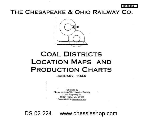 C&O Coal Districts Location Maps and Production Charts