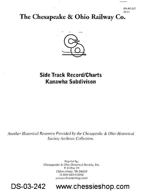 C&O Side Track Record - Kanawha SD