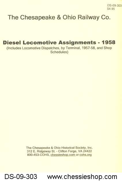 C&O Diesel Locomotive Assignments - 1958
