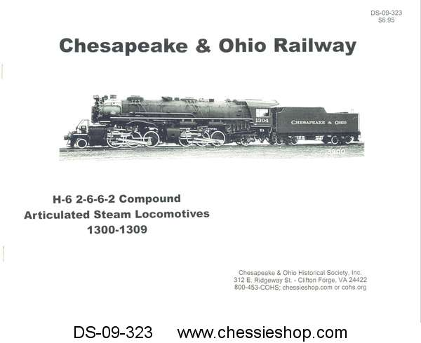 Booklet, H-6 2-6-6-2 Compound Articulated Steam Locomotives 1300