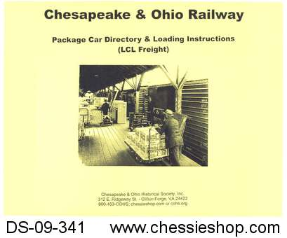 C&O Railway Package Car Directory & Loading Instructions