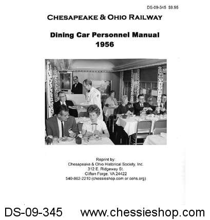 C&O Dining Car Personnel Manual -1956