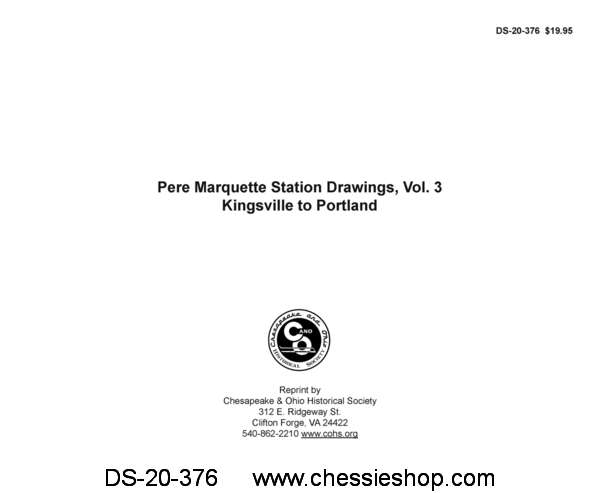 Pere Marquette Station Drawings, Vol 3 - Kingsville to Portland