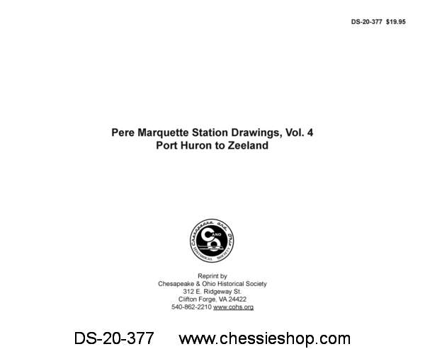 Pere Marquette Station Drawings, Volume 4 - Port Huron - Zeeland