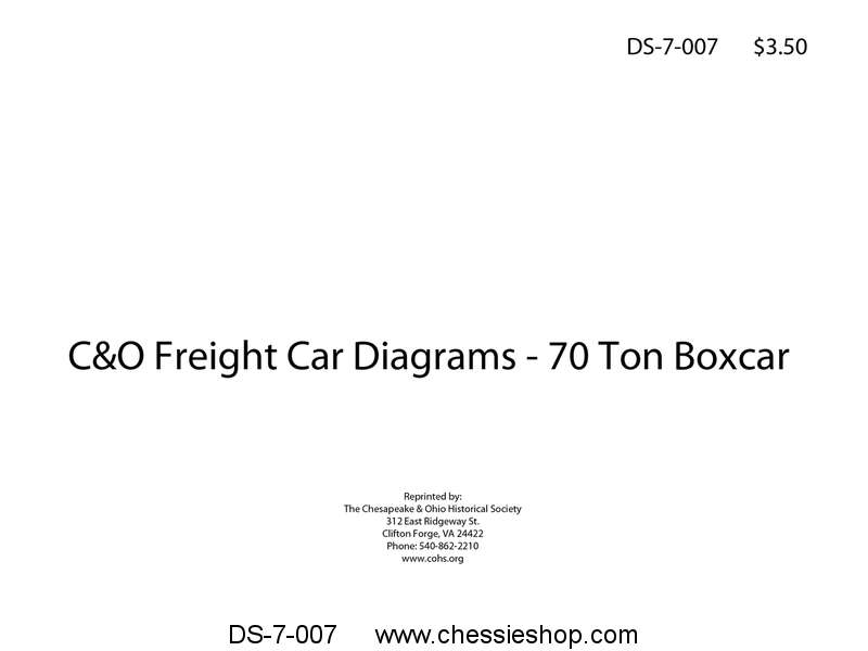 C&O Freight Car Diagrams - 70 Ton Boxcar