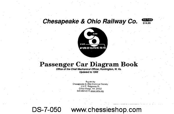 C&O Passenger Car Diagrams - Updated to 1965