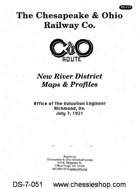 New River District Maps and Profiles (July 1921)