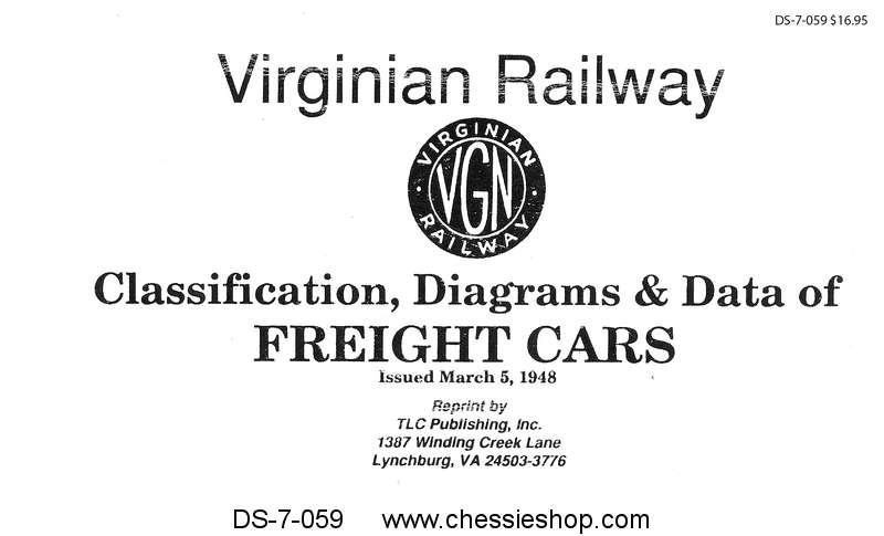 Virginian Railway Freight Cars as of 1948