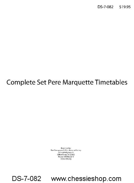 Complete Set Pere Marquette Employee Timetables