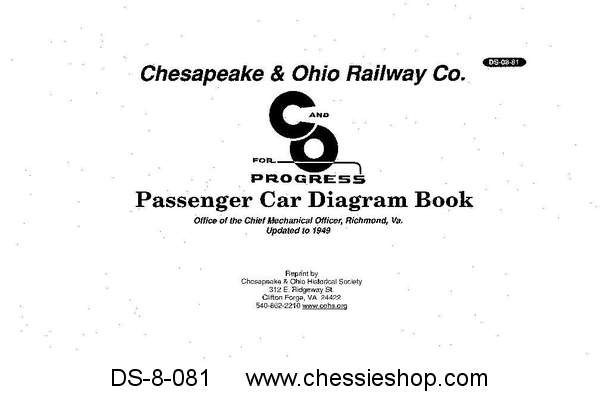 C&O Passenger Car Diagram Book - Updated to 1949