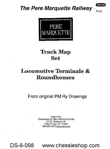 PM Track Map Set-Locomotive Terminals & Roundhouses