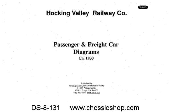 Hocking Valley Freight & Passenger Car Diagrams...