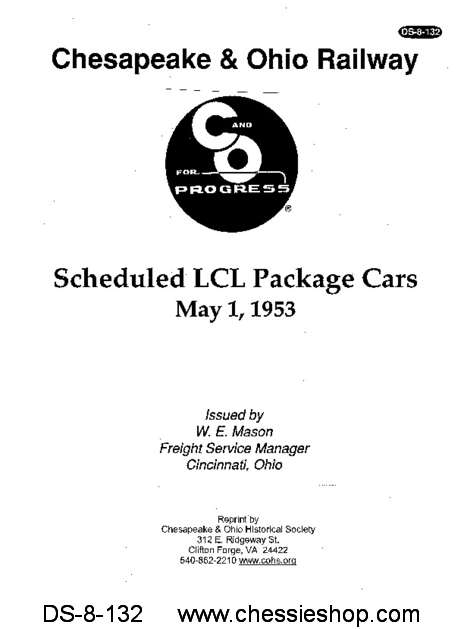 Scheduled LCL Package Cars - 1953