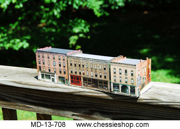 Radical Flats, Thurmond features 3 different buildings, N Scale