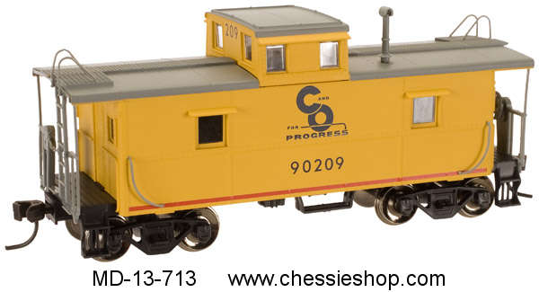 Caboose, C&O Yellow/Blue, Atlas, N Scale