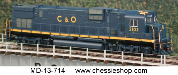 Locomotive, C630, Alco, C&O, HO Scale, HI Ad Trucks