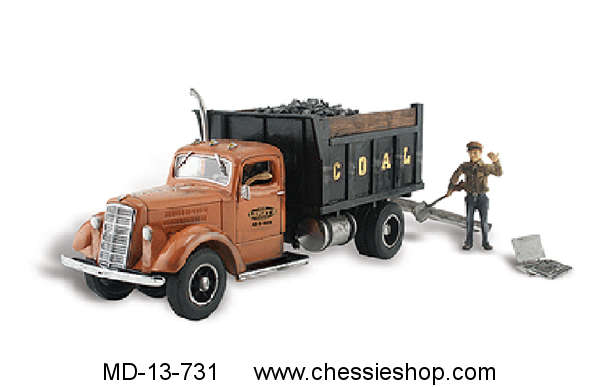 Truck, Coal, With Figure, HO Scale
