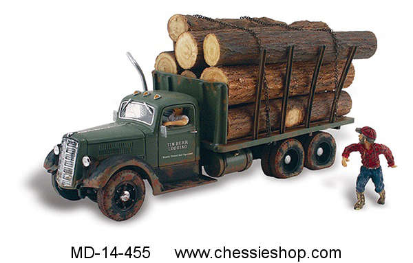 Truck, Lumber Load & Figures, N Scale