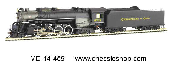Locomotive, C&O Kanawha, Road #2718, HO Scale